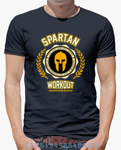 2018 Summer Panic buying t shirt men Spartan Workout Short sleeves Fashion Knitted hip hop mens S-XXXL