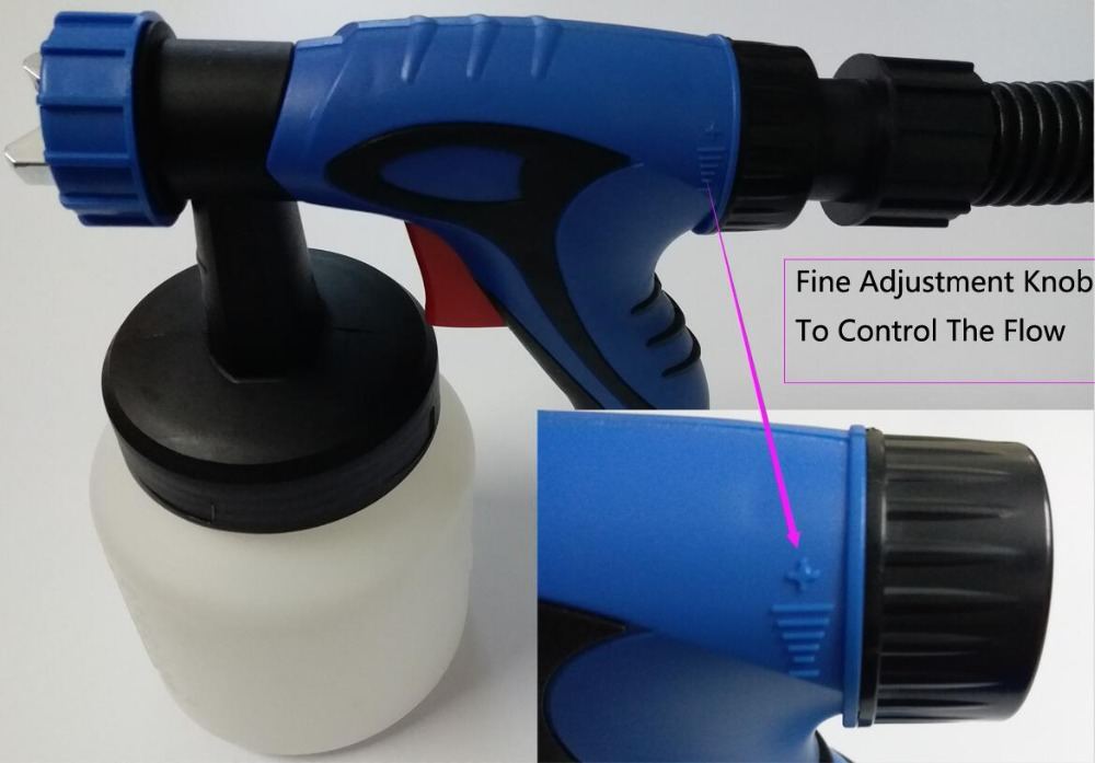 Image 5 - 650W Airbrush with Compressor Airless Paint Sprayer HVLP LVLP Electric Spray Gun For Painting Cars wall furnature-in Spray Guns from Tools on