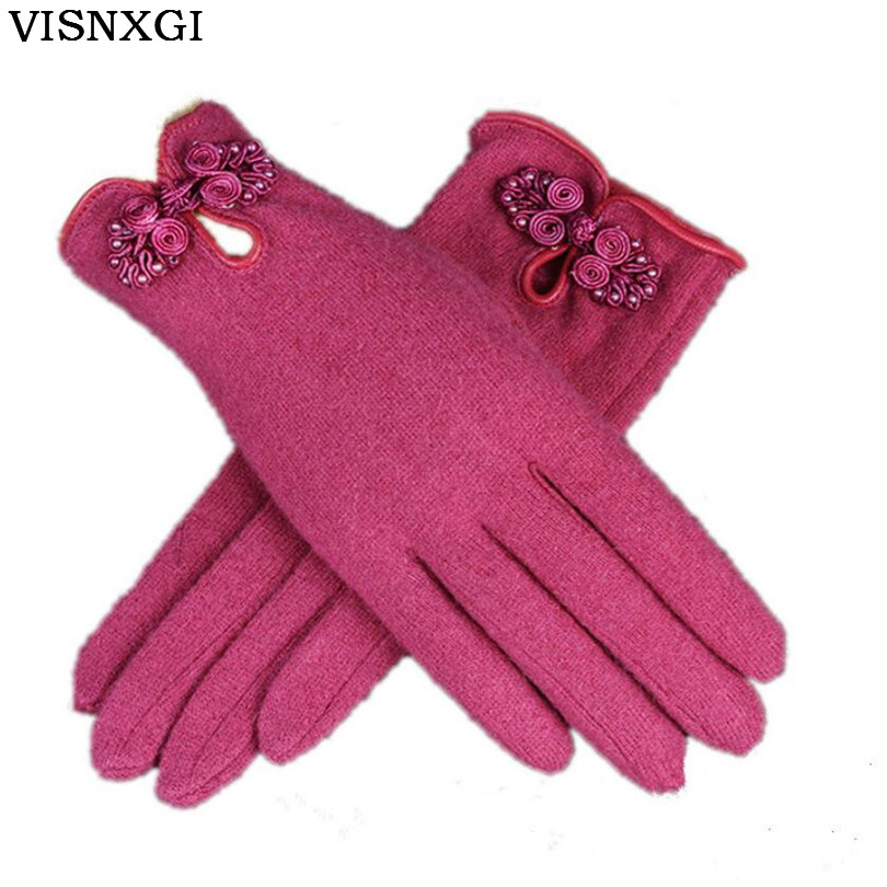 2017 Women's New Fashion Wool Gloves Ands