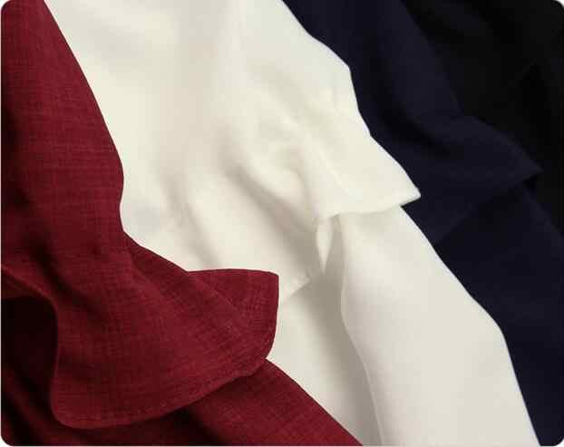 TWOTWINSTYLE 2020 נשים ארוך שרוולים Peplum חולצות חולצה חולצות תחרה עד לפרוע מותן טוניקת בגדים נשיים קוריאני בתוספת גודל