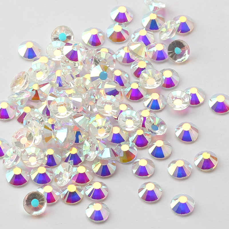 ... Mix Sizes Transparent Stone SS3-SS30 Glass Gem Clear AB 3D Nail  Rhinestones 3d8f2e297686