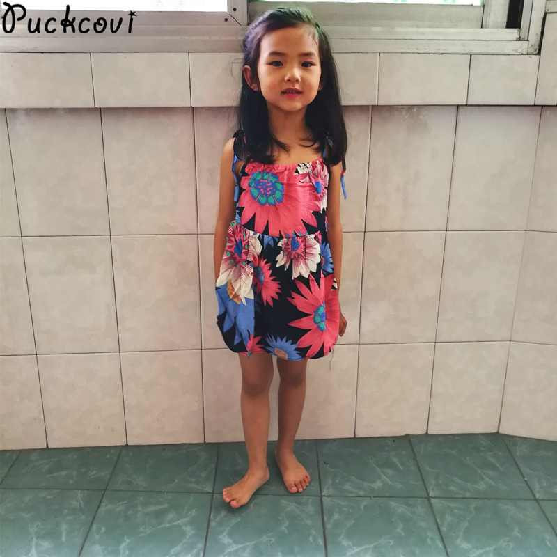 Girls dress Print Summer Dresses girl 2016 Bohemian Children Vestidos Sundress Kinderkleding meisjes Kids Beach onepiece