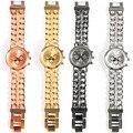 Moda Mulheres Pulseira de Relógio de Genebra 2017 Nova Dupla Cadeia de Pulso de Quartzo Senhora Relógios de Luxo Relojes Mujer Elegante Design de Estilo