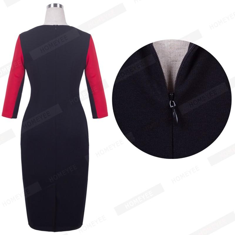 Plus Size Elegant Bodycon Pencil dress 37
