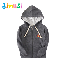 DIMUSI Spring Boy's hoodies 100% Cotton jacket kids girls outwear children zipper Coat boy's jacket clothes for children BC023
