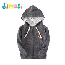 DIMUSI Spring Boy's hoodies 100% Cotton jacket kids girls outwear children zipper Coat boy's jacket clothes for children BC023