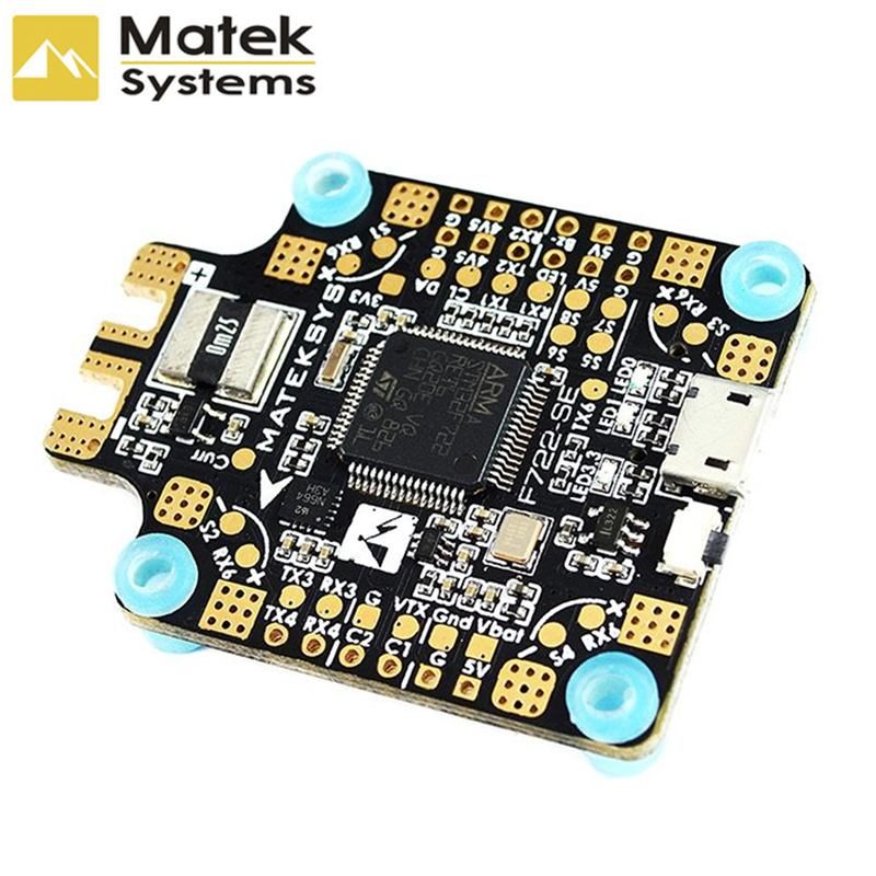 New Matek System F722 SE F7 Dual Gryo Flight Controller OSD BEC Current Sensor Betaflight For