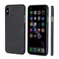 Body Armor Material Slim Aramid Fiber Case for iPhone XS XR XS MAX Cover Fit Minimalist with 0.7mm Carbon Fiber Patterns