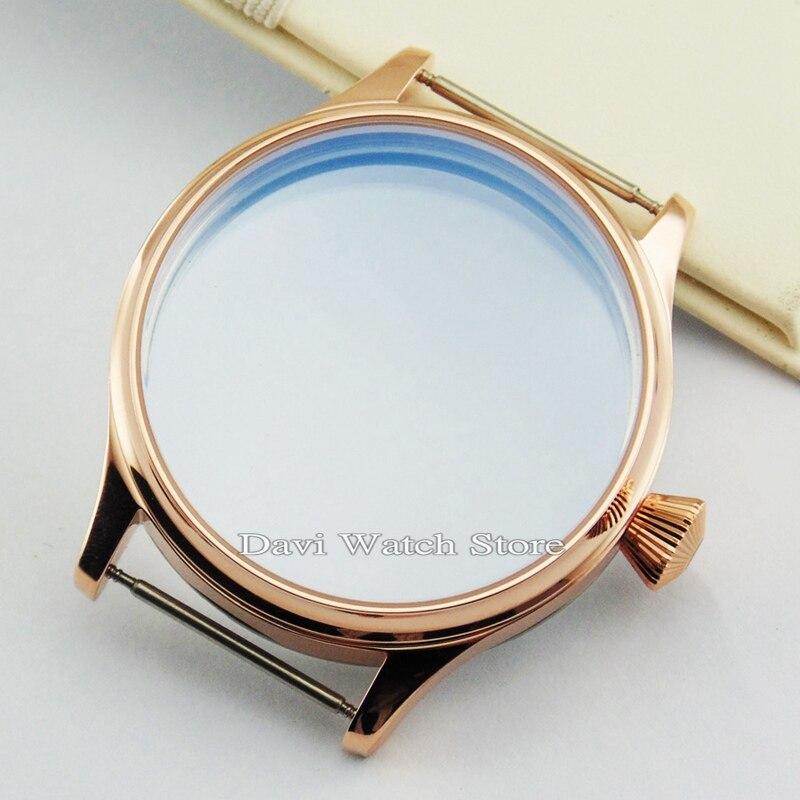 4067c66f02d 44mm ST36 Corgeut Caixa do relógio Em Aço inoxidável Fit 6497 6498 Gaivota  movimento relógios