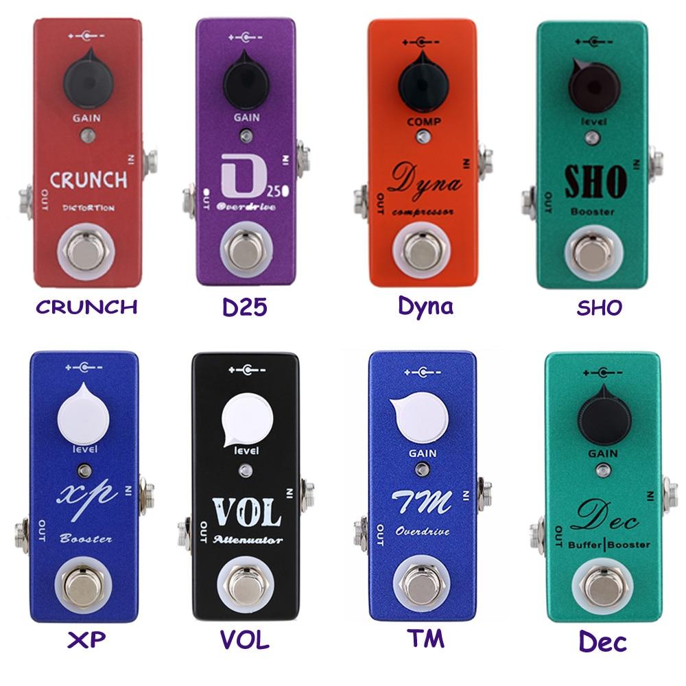 Mosky Mini Guitar Effect Pedal Crunch Distortion, Overdrive,Dyna Compressor, Attenuator,Buffer Booster Guitarra Accessory, Power цена и фото