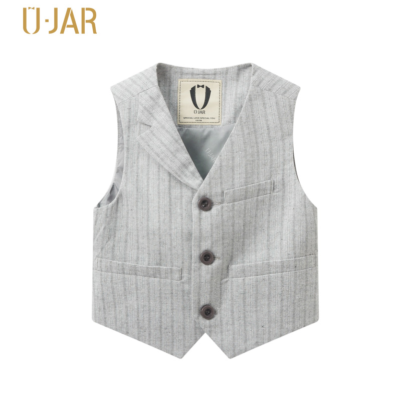 UJAR Brand England Gentleman Style Children Formal Vest Autumn Boys Party Vests For Age 4-12 Years Kids U52L101