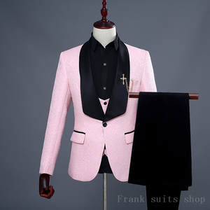 2018 Slim Fit Men Suits For Wedding 3 Piece jacket Pants