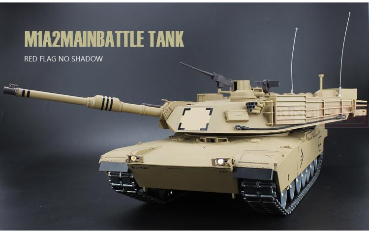 2.4 Ghz RC tank Heng Long 1/16 US M1A2 US armée principale bataille Tank Abrams Tusk Tank ultime métal version métal engins pistes son