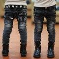 Новый Год, Бесплатная доставка, весна и осень детская одежда мальчиков детские джинсы детские, мальчики Джинсы детская Мода Для Дёинсовой