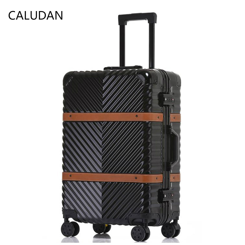 Luggage & Travel Bags Dutiful Caludan 202429 Inch Pc Abs Usb Interface Rechargeable Travel Suitcase Kinder Tas Trolley Designer Luggage With Wheel