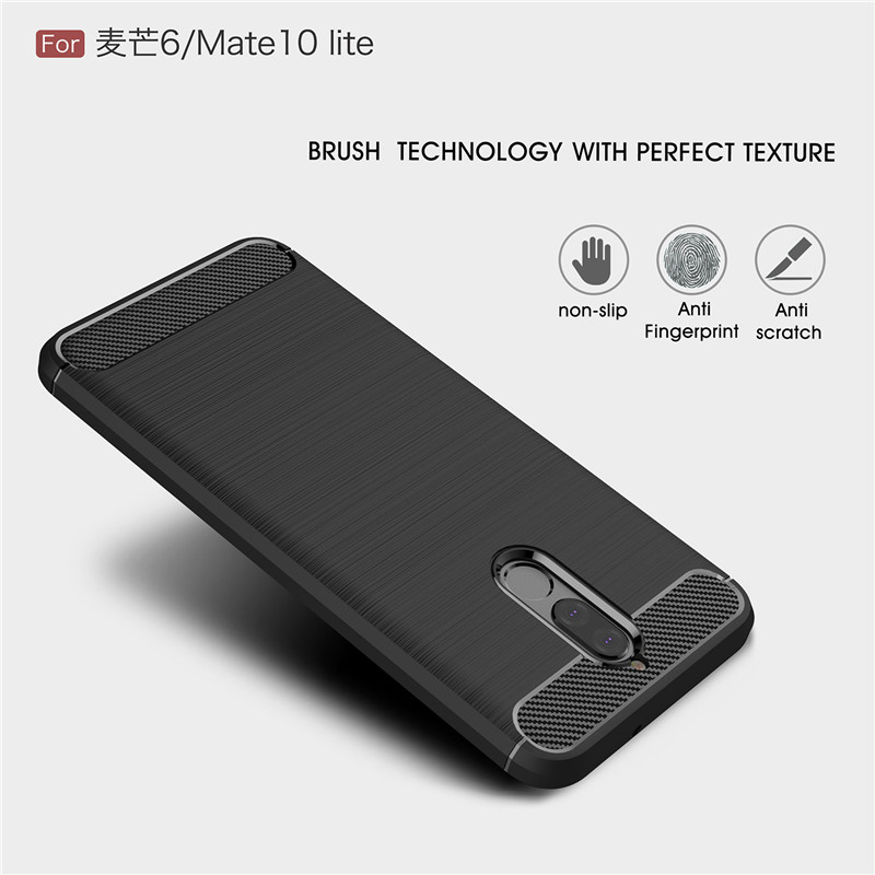 buy popular 2f051 14bf9 WolfRule For Cover Huawei Nova 2i Case Soft TPU Phone Case For Huawei Nova  2i Cover Huawei Mate 10 Lite Shell 5.9''[