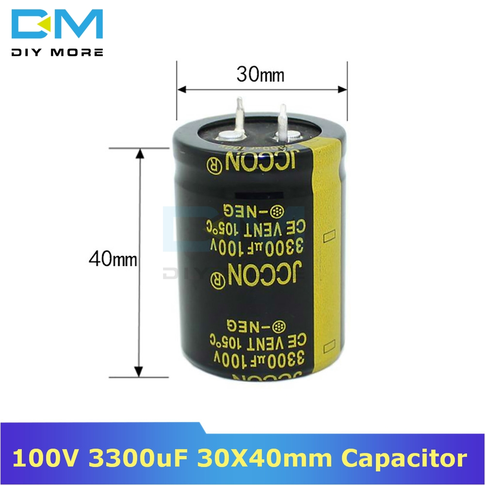 100V 3300uF 30X40mm 30X40 Aluminum Electrolytic Capacitor High Frequency Low Impedance Through Hole Capacitor 30*40mm Diymore