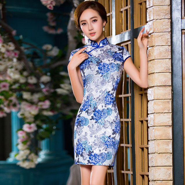 2016 New Summer Women Silk Satin Cheongsam Chinese Traditional Dress Vestido Sleeveless Female High Neck Qipao Evening Dresses