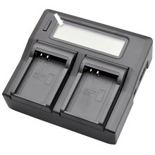 New LCD Dual Battery Charger For BLN-1 BLN1 E-M5 Mark II EP5 OM-D E-M1 OMD EM5 Pen E-P5 Digital Camera