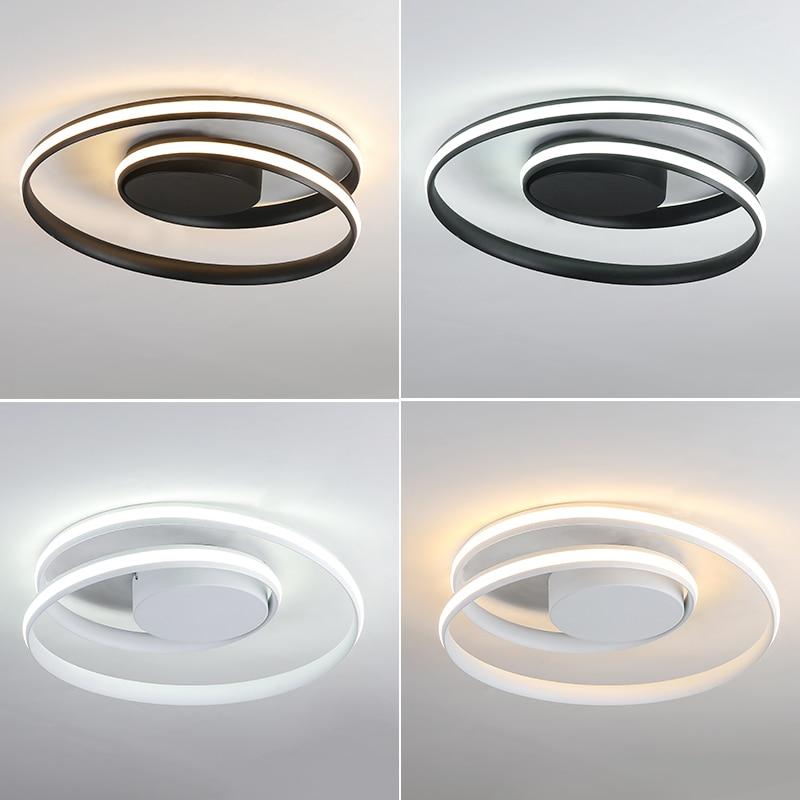 Здесь можно купить  Creative Modern LED Ceiling Lights For Living room Bedroom Dining Room Black/White Home Deco LED Ceiling Lamp Fixtures Lustre  Свет и освещение