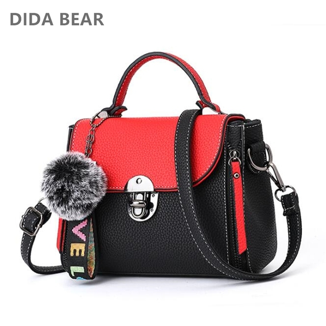 5e0b49f7274f DIDA BEAR 2018 New Fashion Women Small Leather Handbags Lady Shoulder Bags  for Shopping Travel Female mini Bag Bolsas Femininas