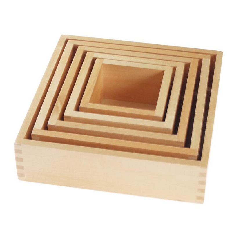 Montessori enseignement aides opération classification équipement ensemble boîte puzzle éducation précoce maternelle jouets en bois