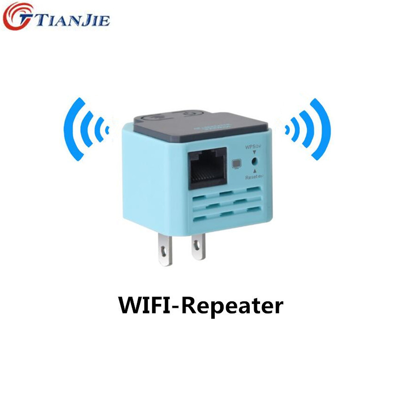 TIANJIE Wi-Fi Repeater Wireless Home Amplifier 802.11N / B / G Signal Extender 300Mbps Signal Strength repetidor WiFi WPS