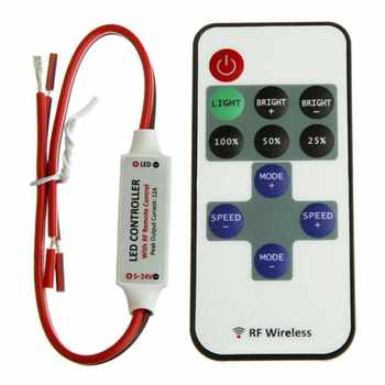 New Mini Wireless RF Remote Controller Dimmer Control For Single Color LED Strip - DISCOUNT ITEM  22% OFF Lights & Lighting