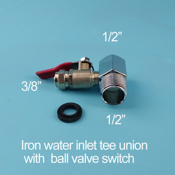 Water purifier iron three connection water intake tee fitting three-way piece 1/2to 3/8 ball valve switch pure tee union water color planet print tee