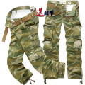 Multi-Pocket Camouflage Mens Cargo Pants Casual Military Men Trousers Free Belt