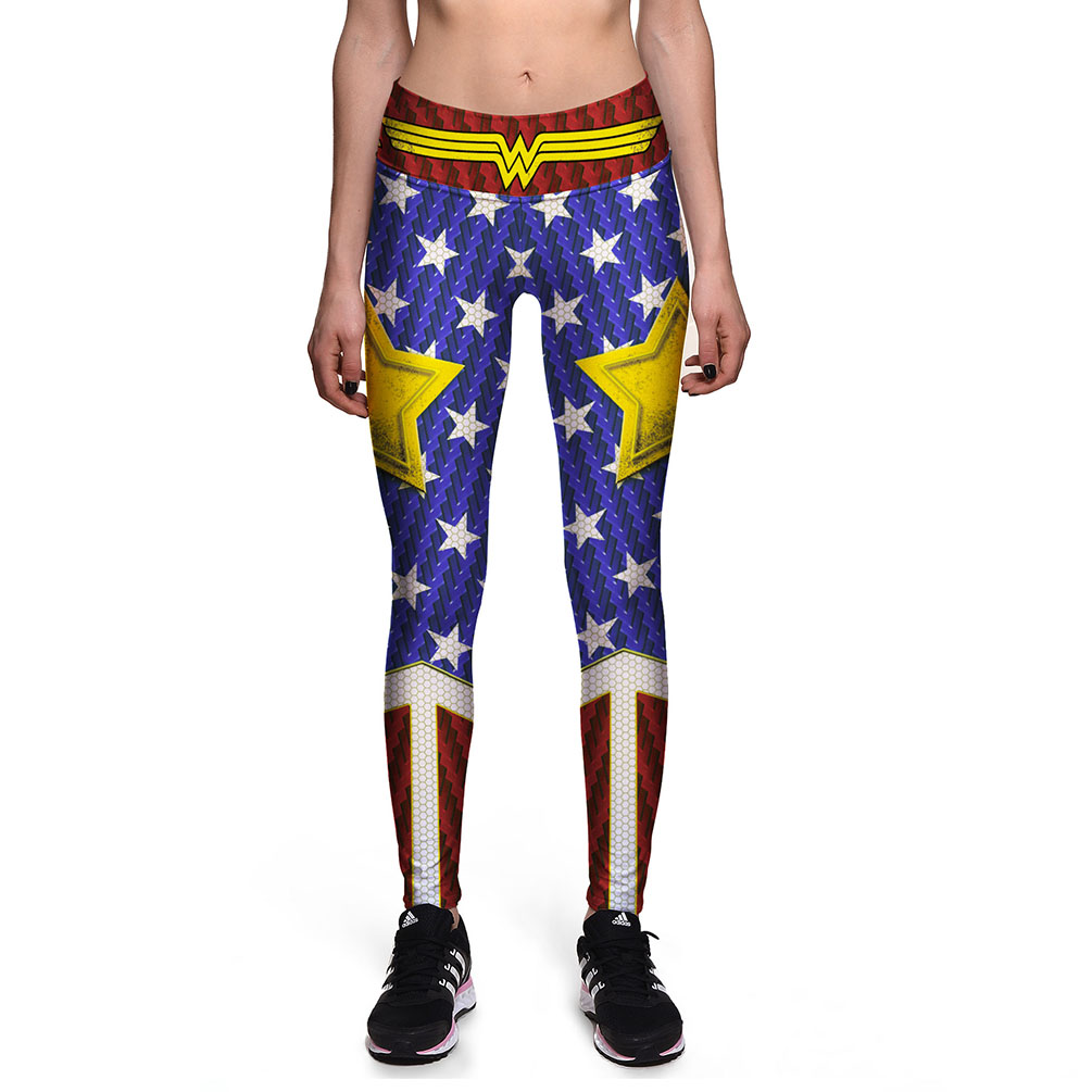 2af9ee49d7e71 Hipsterme Leggings Plus Size Sexy Push Up Pants Women s Marvel Stra Elastic  High Waist Fitness Leggings