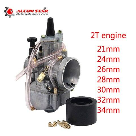 alconstar carburador de motocicleta 2t motor keihin 21 24 26 28 30 32 e 34mm