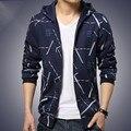 2016 Новая Мода Большой размер Мужские внешней торговли мужской бутик мужской моды Толстовка балахон пальто Мужской Уличной капюшоном толстовка