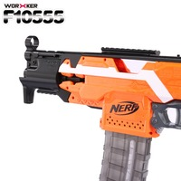 WORKER f10555 Modularized NO.114 K Bare Pipe 3D Printing Front Tube Decoration+NO.105 Interface Component Kit for Nerf N Strike