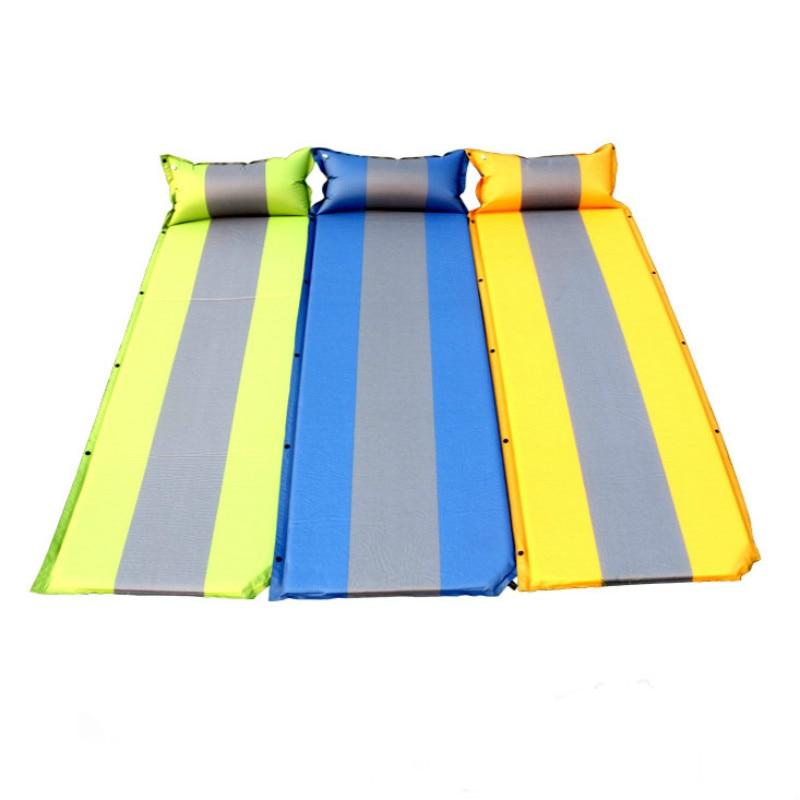 Tapis de couchage auto-gonflant avec oreiller tapis de Camping gonflable léger pour randonnée en plein air