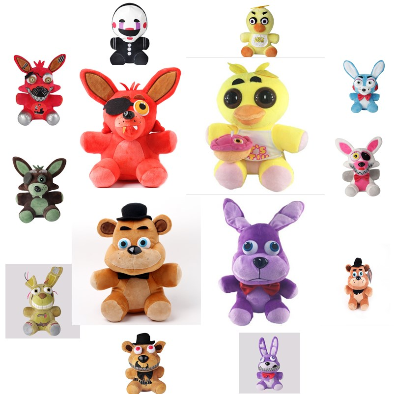 new 1pce/lot Five Nights at Freddy's 2style plush Bonnie china foxy freddy doll toy Furnishing articles Children's gift new 1pieces lot pvc qq mini shape shifting robot car monster machines furnishing articles children s gift