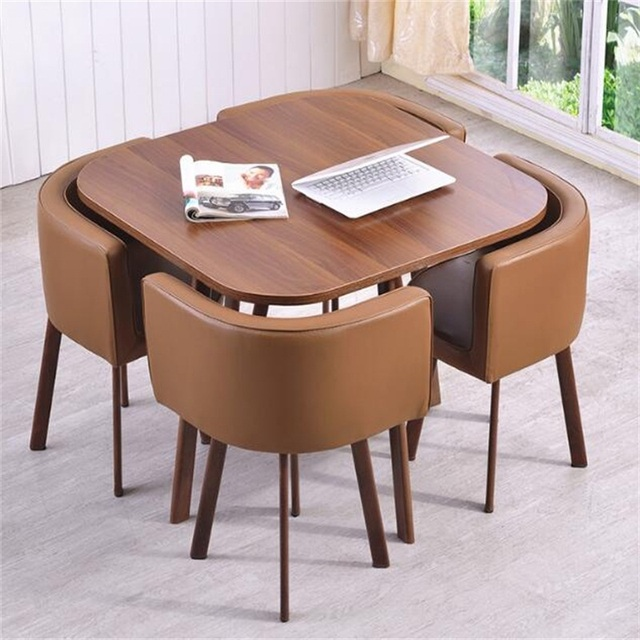 US $199.0  High quality Coffee table Meeting table Council board Office  Desk with 4pcs Chairs on AliExpress