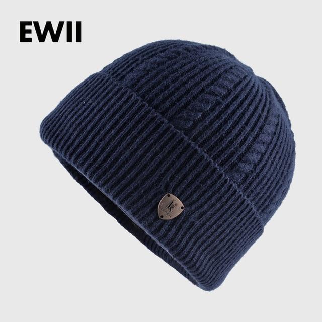 2017 Menino gorros chapéu do inverno dos homens de malha skullies tampão do inverno  chapéus para 8df2dc879ad