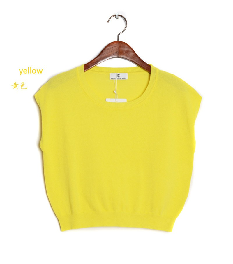 Summer 2016 Solid knitted short Pullover Sweater (19)