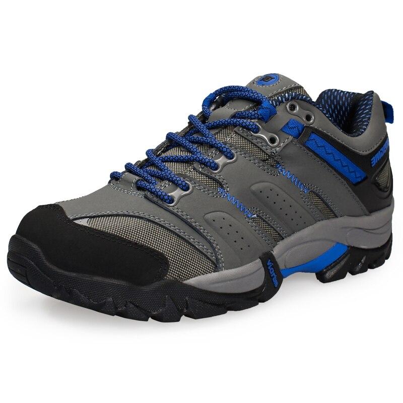 Chaussures de randonnée d'escalade en plein air pour hommes en cuir véritable chaussures antidérapantes résistantes à l'usure