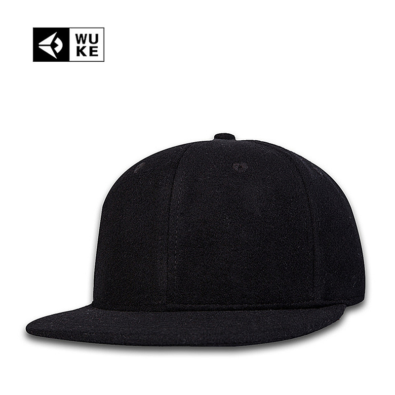 plain fitted baseball caps uk winter thicken font wool wholesale