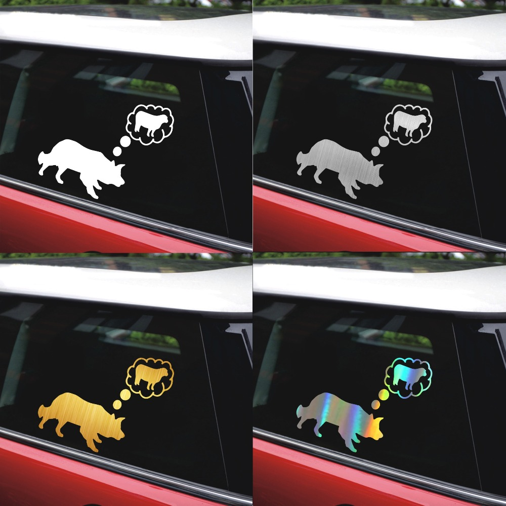 Tancredy Border Collie Sheep Car Stickers 2nd Half Price Vinyl Decal Car Styling Motorcycle Decoration and Car Accessories
