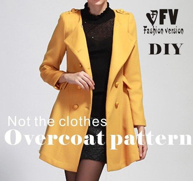 Kleidung DIY Mantel Nähen Muster Mantel Nähen Vorlage Schneiden ...