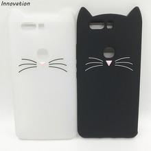 цена на Innovation Cute 3D Cartoon Black White Cat Soft Silicone TPU Phone Back Case For Huawei Honor 8 V8 9 V9 Honor 4C 5C / Nova Funda