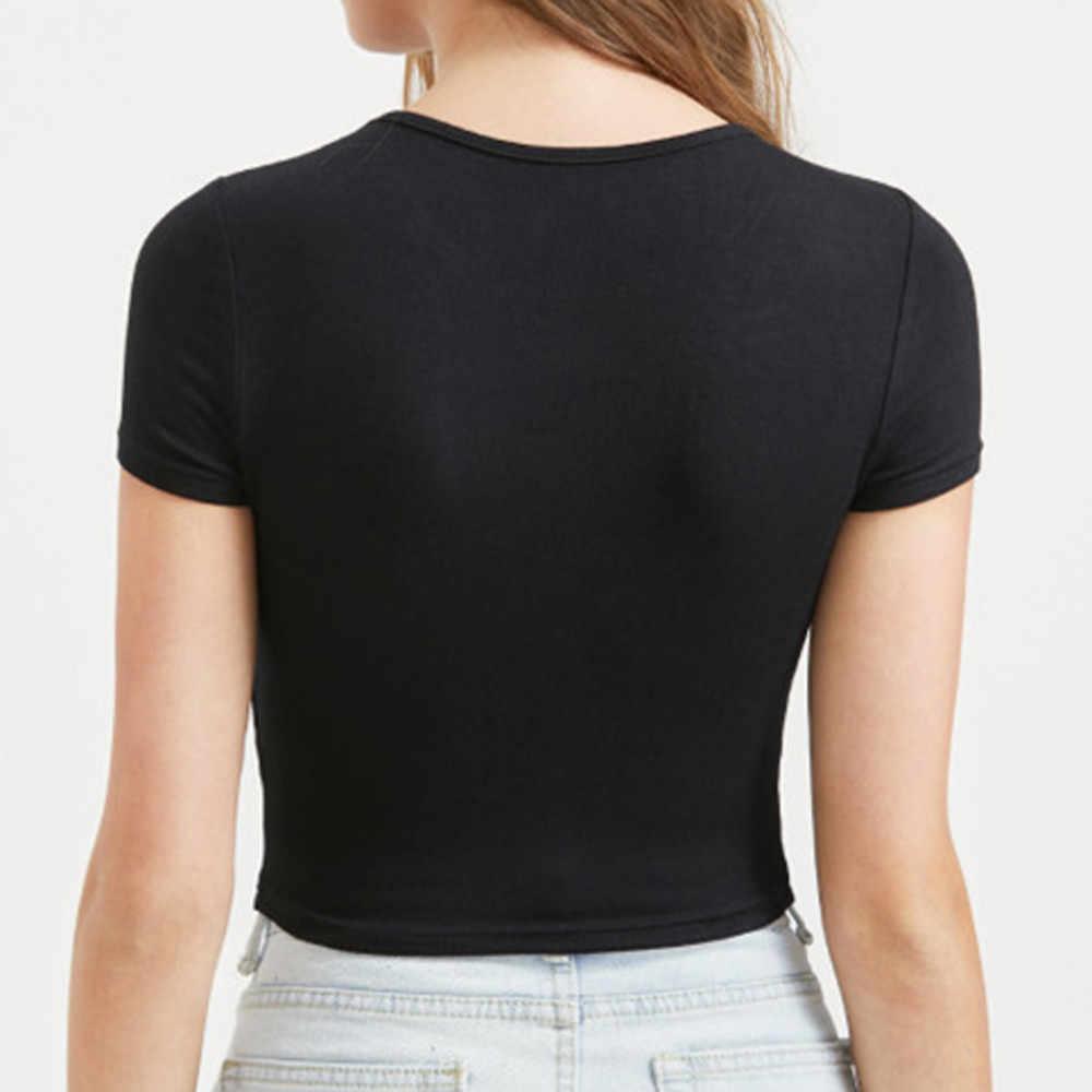 섹시한 여성 오-넥 퓨어 컬러 반소매 블라우스 캐주얼 슬리브 풀오버 t-셔츠 가을 솔리드 컬러 자르기 dropship dropship