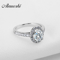 Luxury Oval Cut Synthetic Sona Simulated Diamond Ring With Micro Paved Nscd Ring For Women Engagement