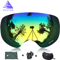 VECTOR Brand Professional Ski Goggles Men Women Anti-fog 2 Lens UV400 Adult Winter Skiing Eyewear Snowboard Snow Goggles Set