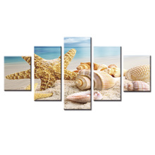Home Decorative Wall Decor Seascape starfish series Painting Art Silk Picture wall pictures for living room