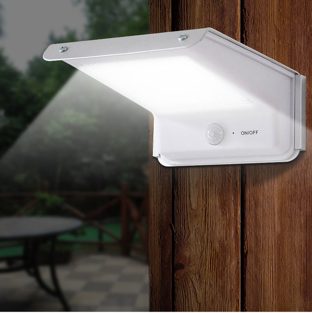 20 Led Solar Lamp Motion Sensor Outdoor Waterproof Body Induction Sound  Control Battery Power Garden Wall