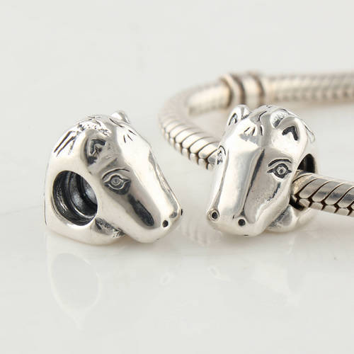 Beads & Jewelry Making Animal Horse Head Bead 925 Silver Fashion Threaded Charms Diy Jewelry Bead Fits European Style Bracelet Snake Chain Lw138 Convenient To Cook Beads